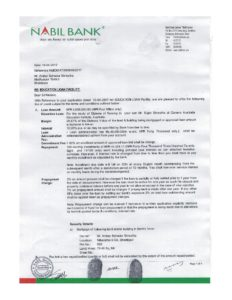Educational Loan Paper Sample