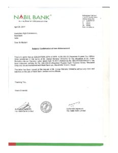 Loan Disburshment Letter sample