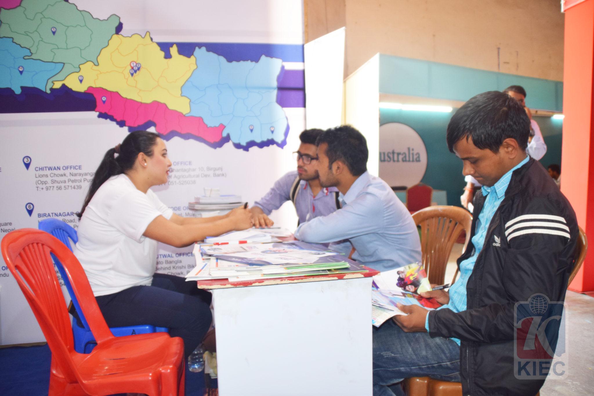 KIEC Counsellor Pratiksha Shrestha with Visitors